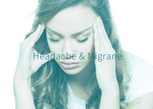 Woman suffering from headache or migrane