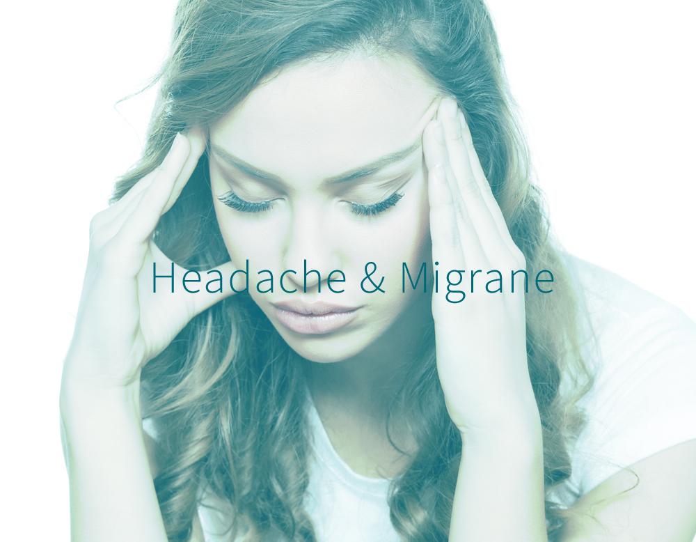 Woman suffering from headache or migrane